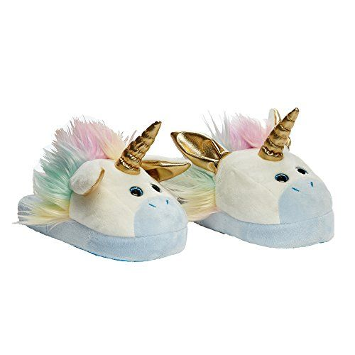 ce10492aa1bb Stompeez Animated Unicorn Plush Slippers - Ultra Soft and Fuzzy - Ears Flap  as You Walk - by Stompeez