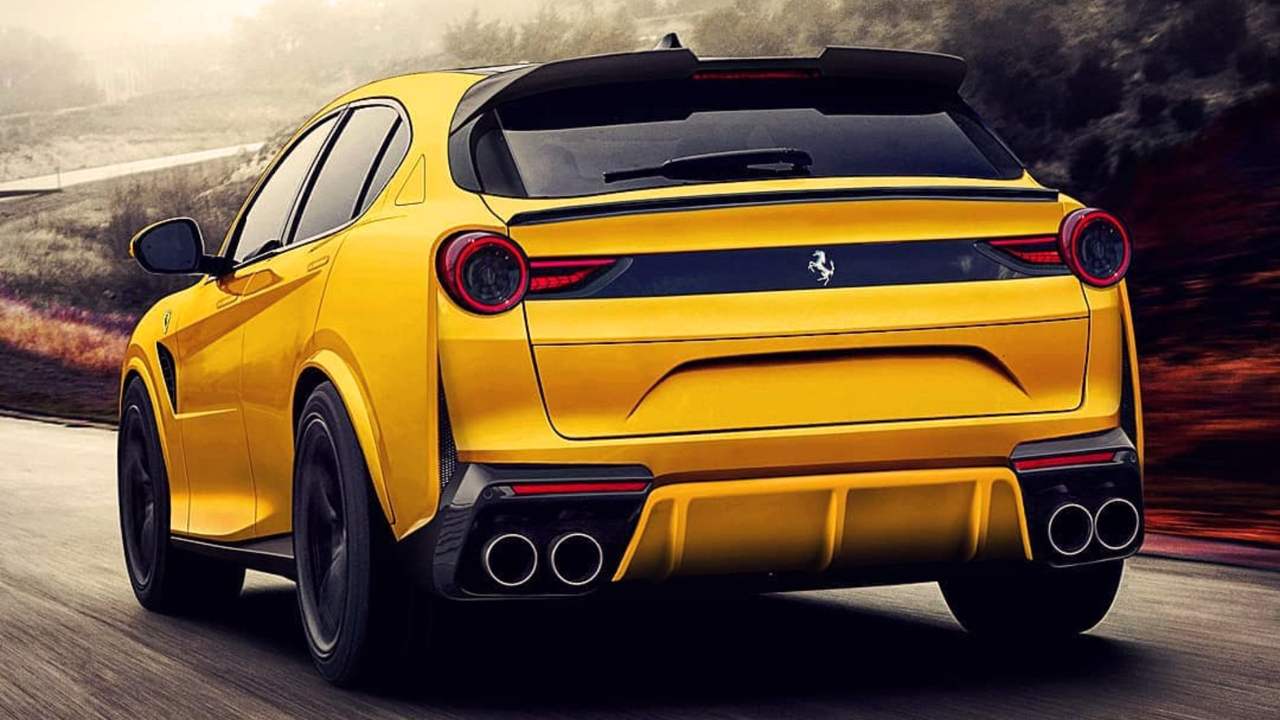 Does This Rendering Of The Ferrari Purosangue Make You Feel Happy Or Mad Top Speed Suv Suv Cars New Ferrari