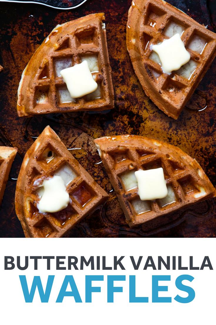 Buttermilk Vanilla Waffles Recipe Recipe Waffle Recipes Vanilla Waffle Recipes Waffles
