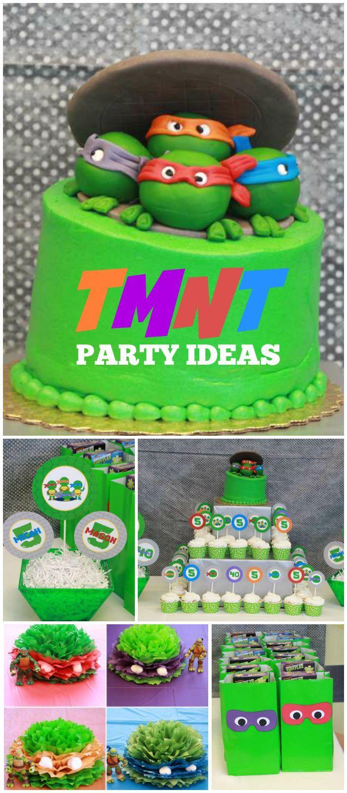 Teenage Mutant Ninja Turtles Birthday Ninja Turtle Party Catch My Party Ninja Turtles Birthday Party Tmnt Birthday Turtle Birthday Parties