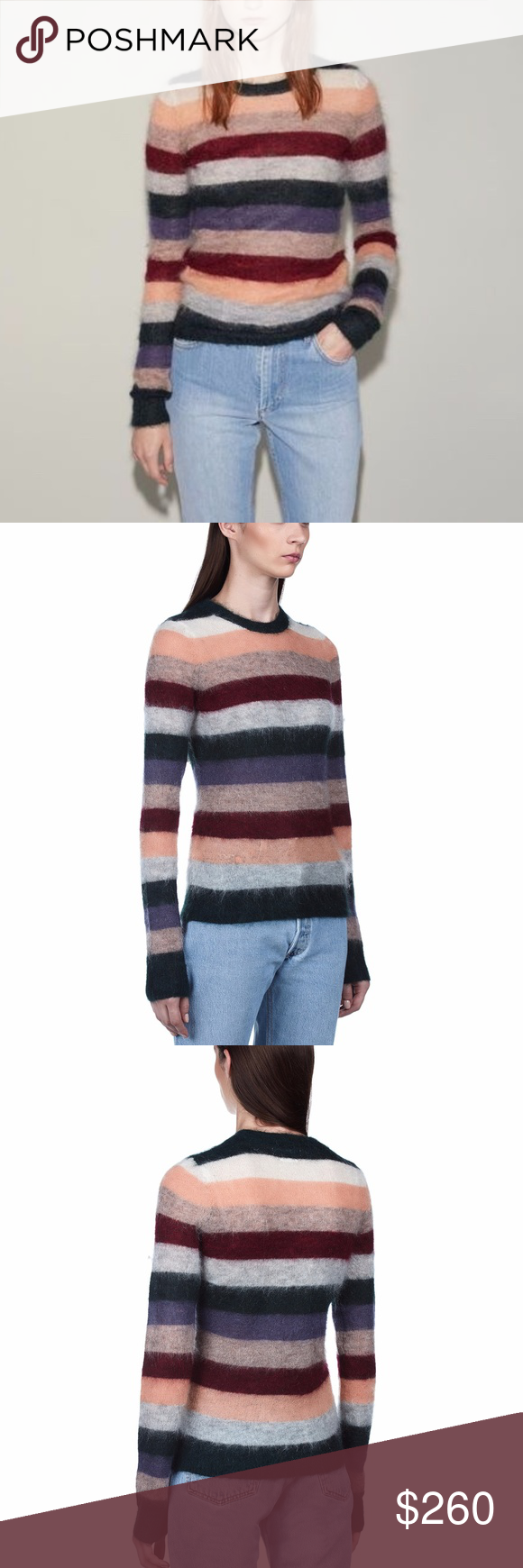 0d8e77adf38 Isabel Marant Étoile Cassy striped sweater Isabel Marant Étoile Cassy  beautiful multicolored striped mohair-blend
