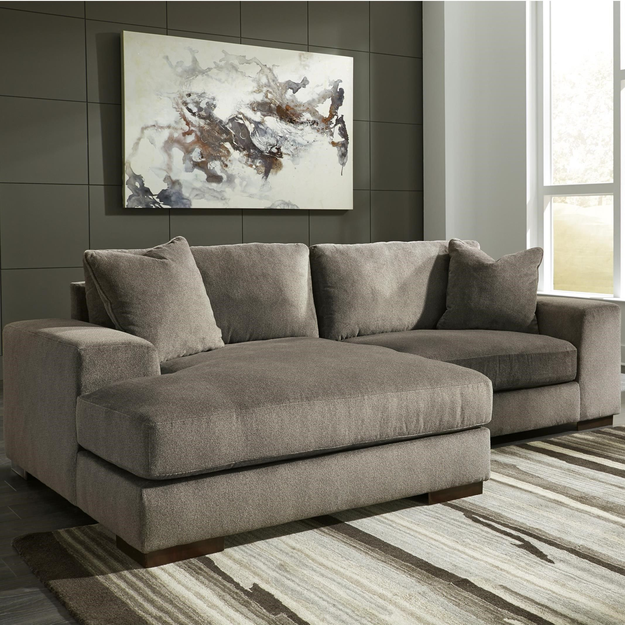 Swell Manzani Contemporary 2 Piece Sectional With Chaise By Uwap Interior Chair Design Uwaporg