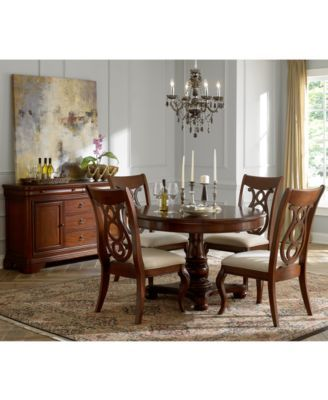 bordeaux pedestal round expandable dining table for the home