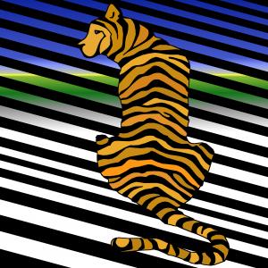 trippy #tiger #opart