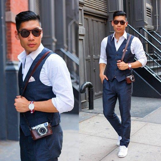 how to wear pinstripe vest celebrity female