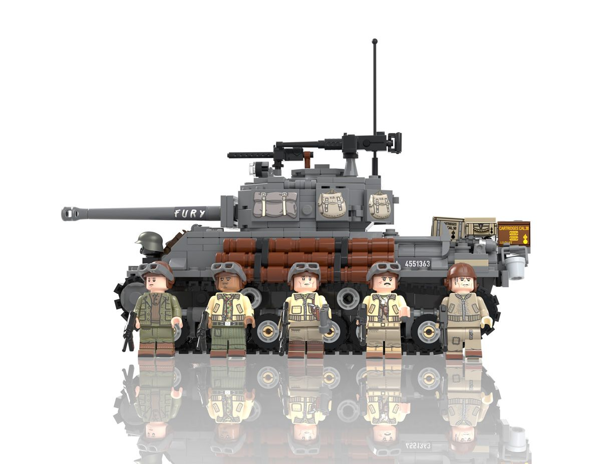 M4a3e8 Hollywood Add On Pack For Easy Eight Brick Tank Lego Military Tiger Ii