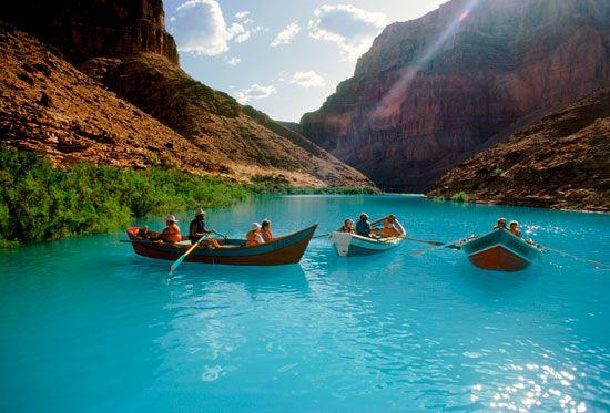 Grand Canyon dories, Colarado, US