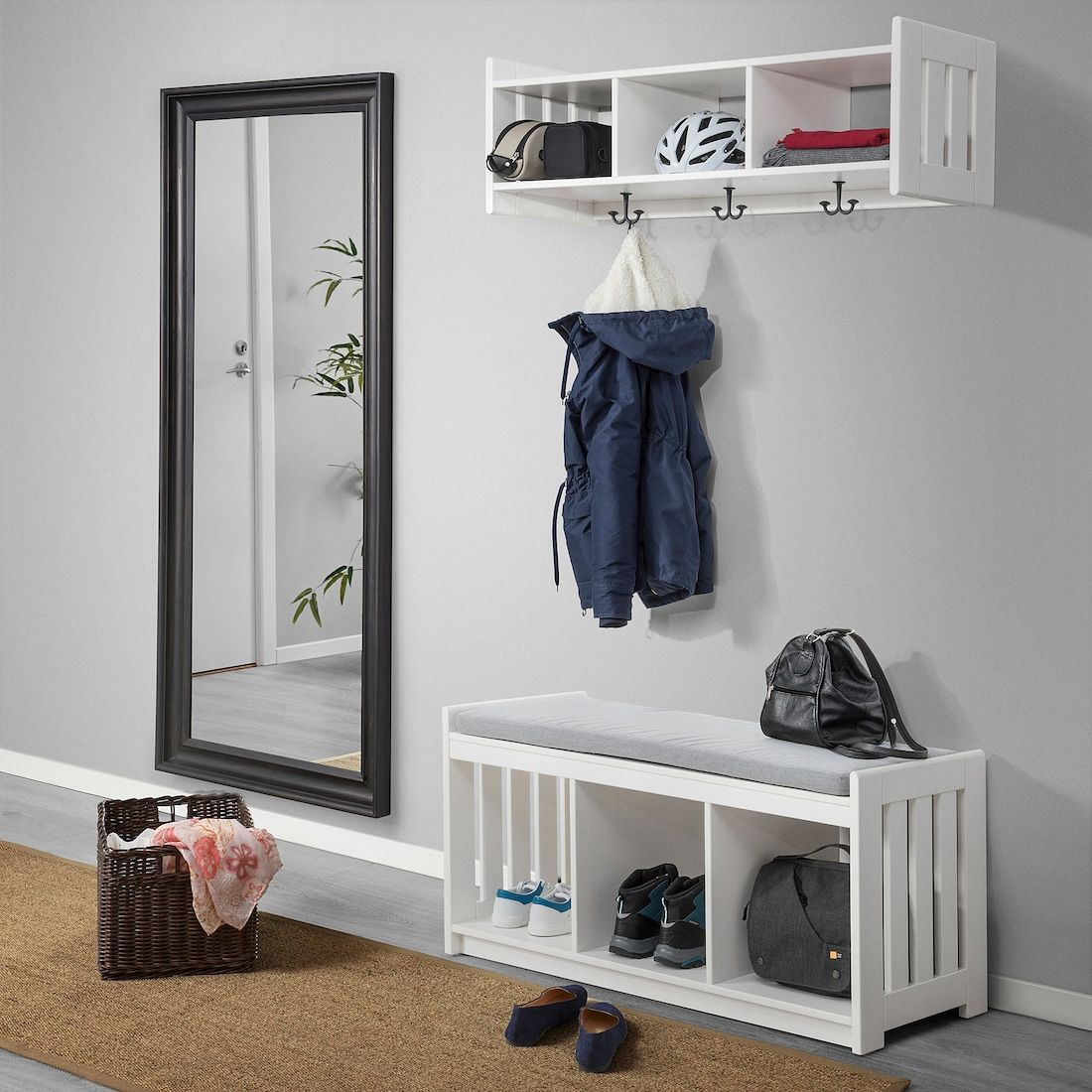 Panget Storage Bench White Ikea In 2020 Bench With Shoe Storage Storage Bench Ikea Clothing Storage