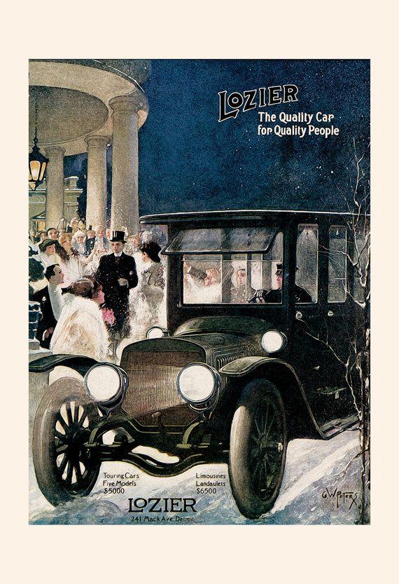 Antique Car Poster Lozier Ad