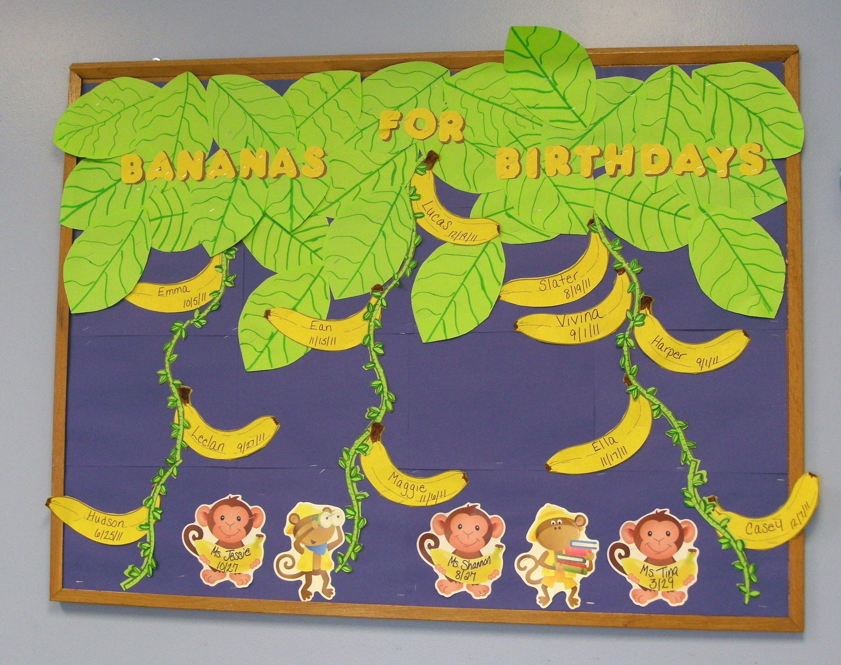 monkey bananas birthday board bulletin boards pinterest
