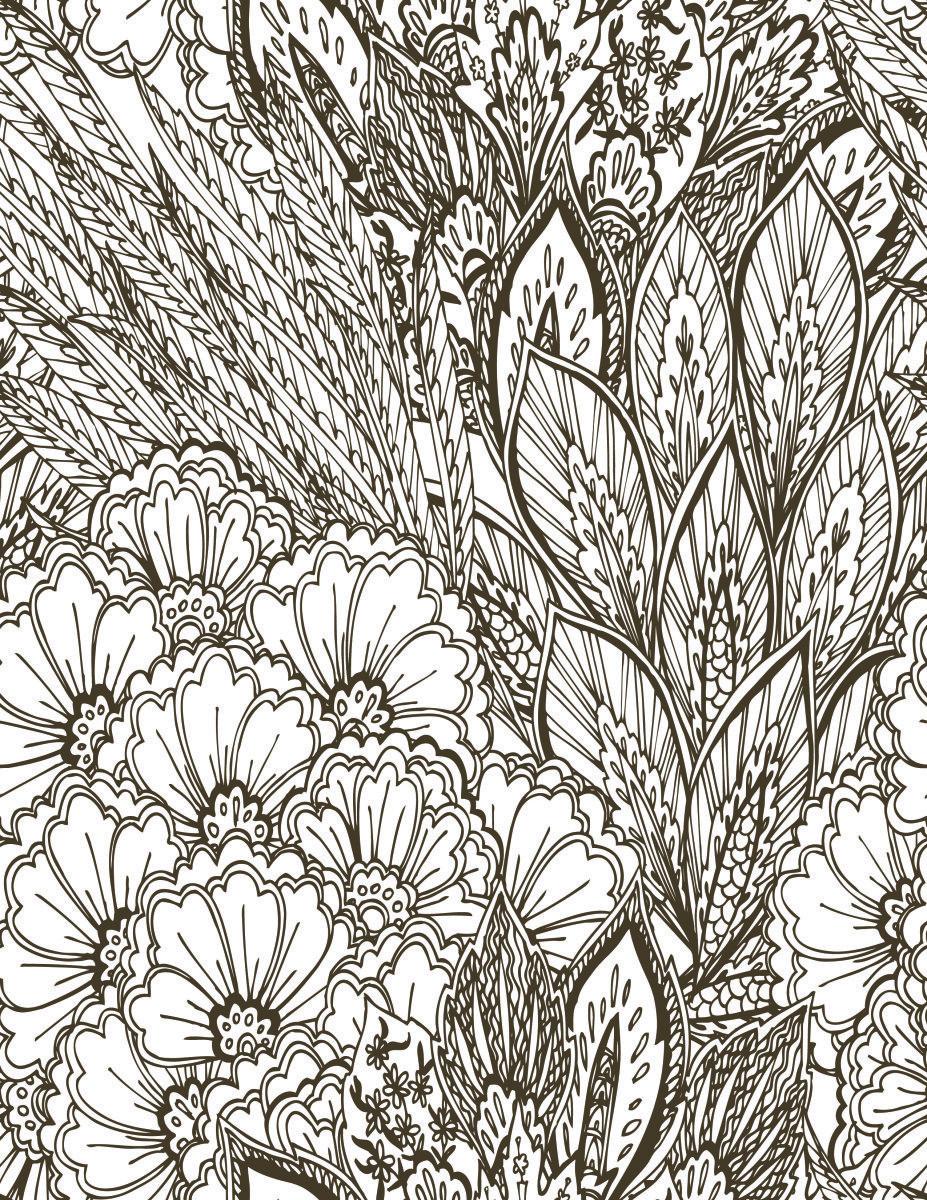 Pin Op Coloriage Fleurs Et Plantes Flowers And Plant Colouring Pages