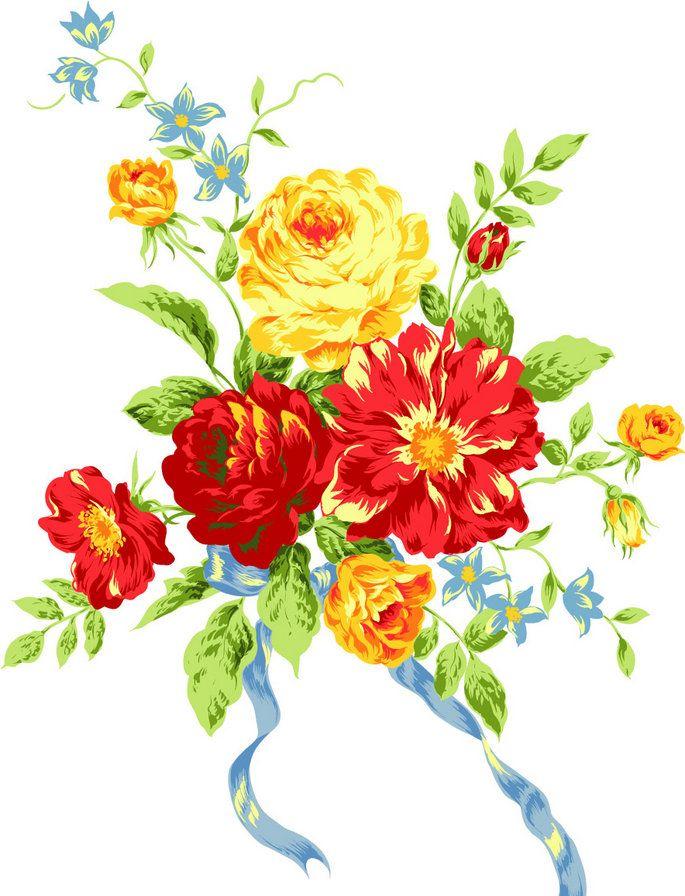 Цветы букет рисунок цветной, небе открытки открытки