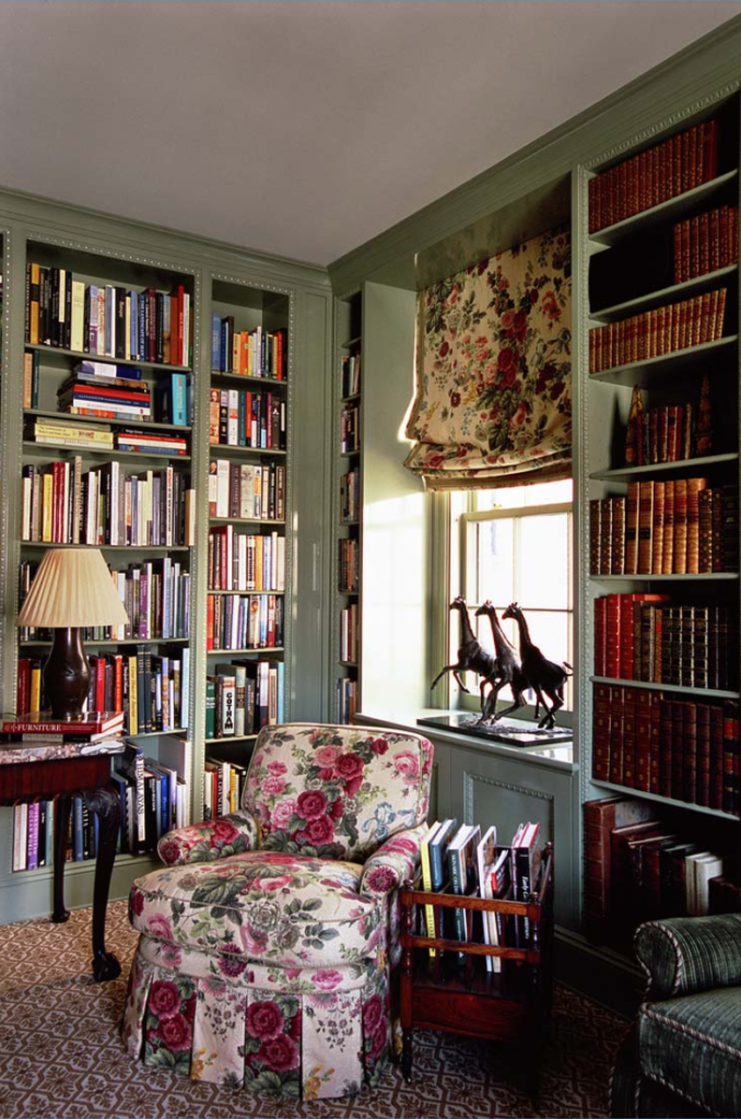 Mcmillen Interior Design English Country Style Chintz Library