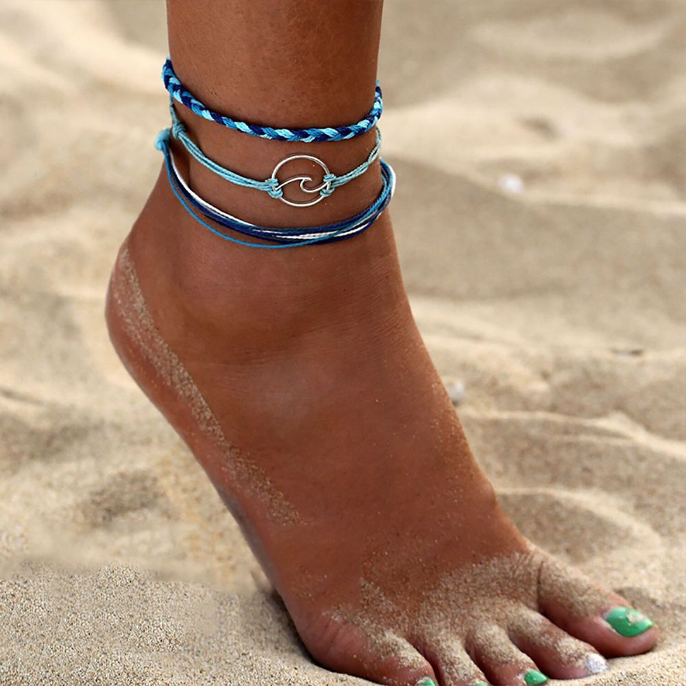 Ankle Bracelet Three Strand Beach Anklets Anklets for Women