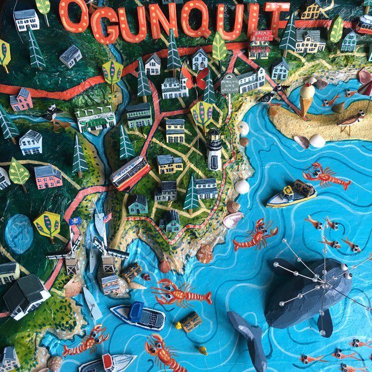 Map Of Ogunquit Maine Detail Amazing Map Pinterest Map