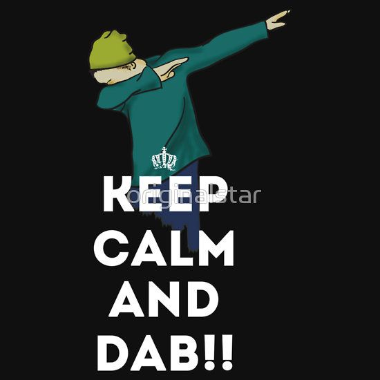 'DAB keep calm and dab dabber dance football touch down' T-Shirt by  originalstar