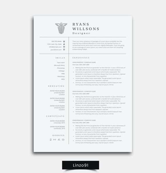 Resume Medical Student Resume Modern Resume Template Cover