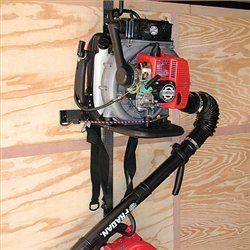 Rack Em Back Pack Blower Rack Can Also Hold A Hand Held Blower On The Tube Hook Landscape Trailers Backpack Blowers Blowers