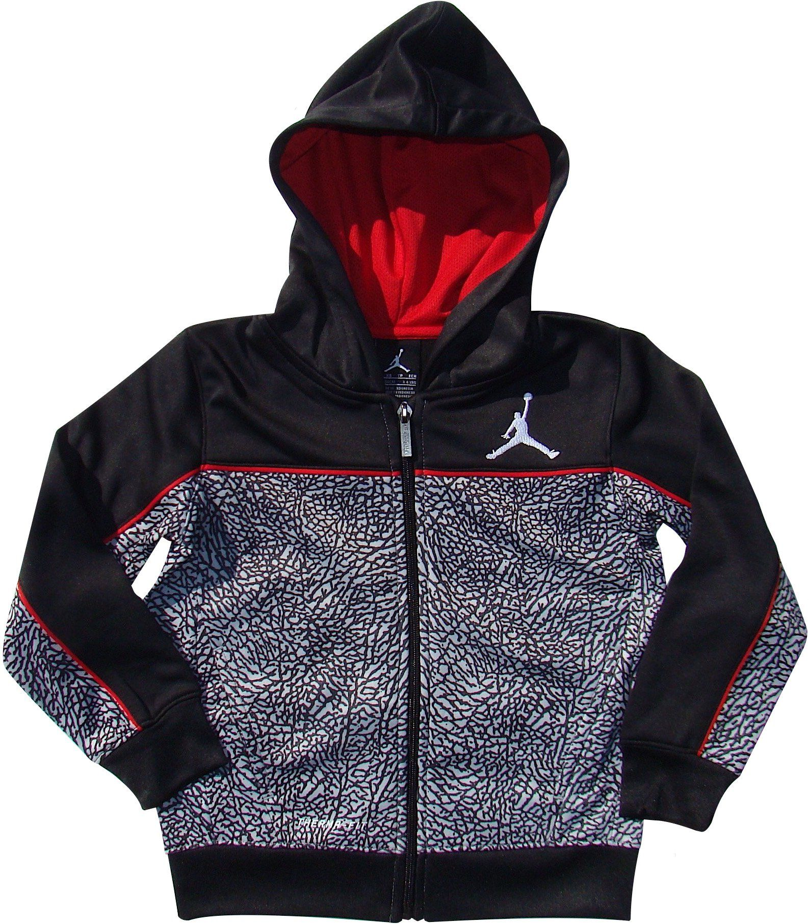 96db19b90a0ef1 Nike Boys Jordan Therma-Fit Elephant Print Hooded Jacket (5). Nike Jordan