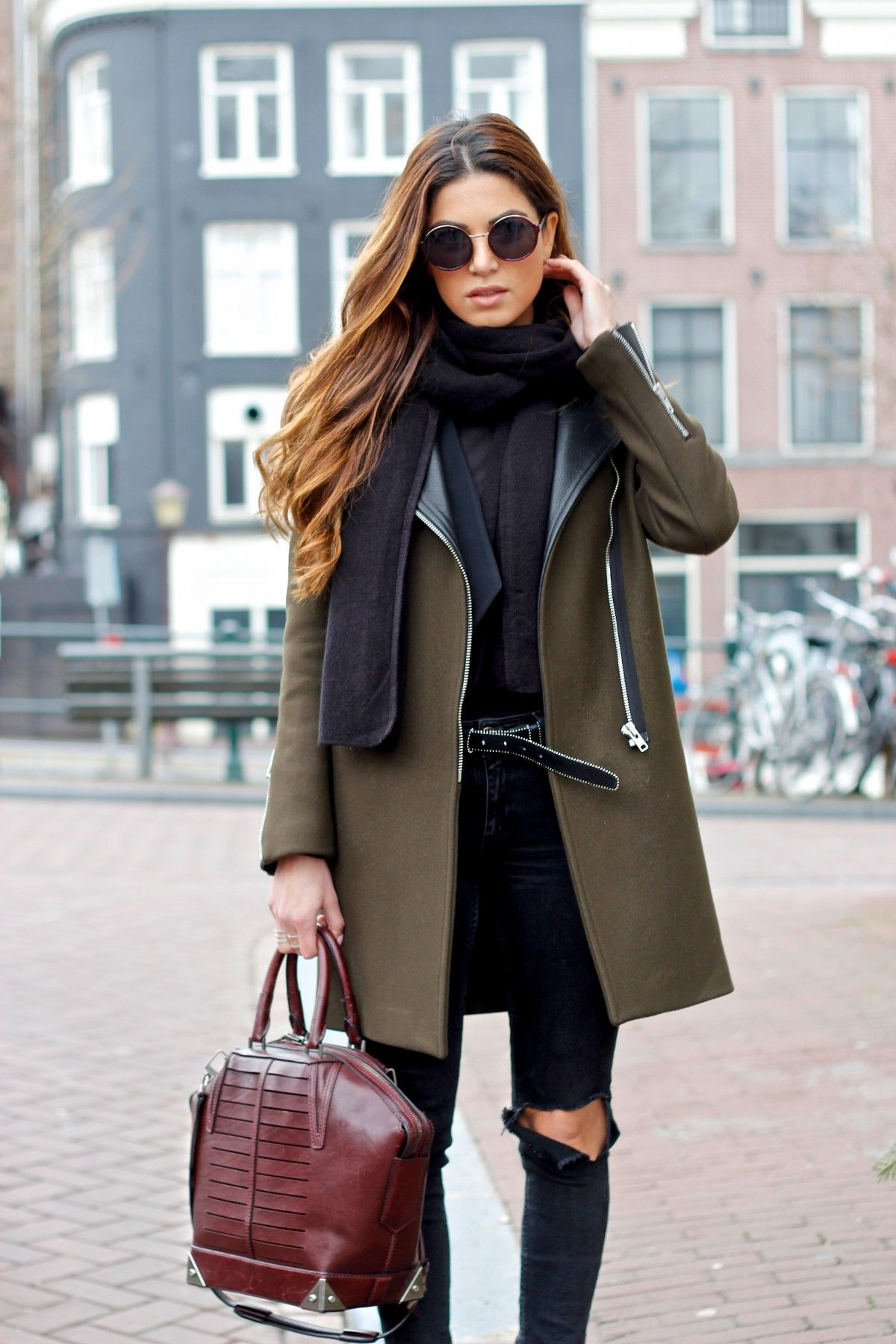 Negin Mirsalehi: How to Create a Boxy and Structured Outfit. Fall Winter FashionWinter ...
