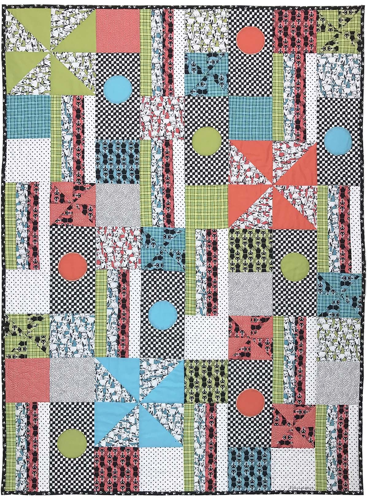 """Cats and Dogs Quilt by Marinda Stewart 40""""x55"""" FREE DOWNLOADS"""