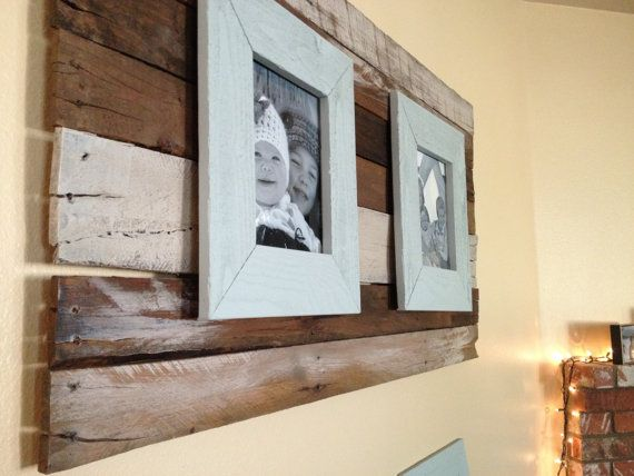 Wood Plank Wall Art 8x10 Double Picture Frame By Middleojune