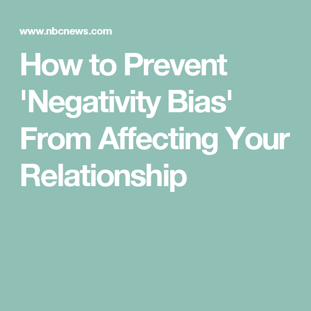 How negativity affects your relationship