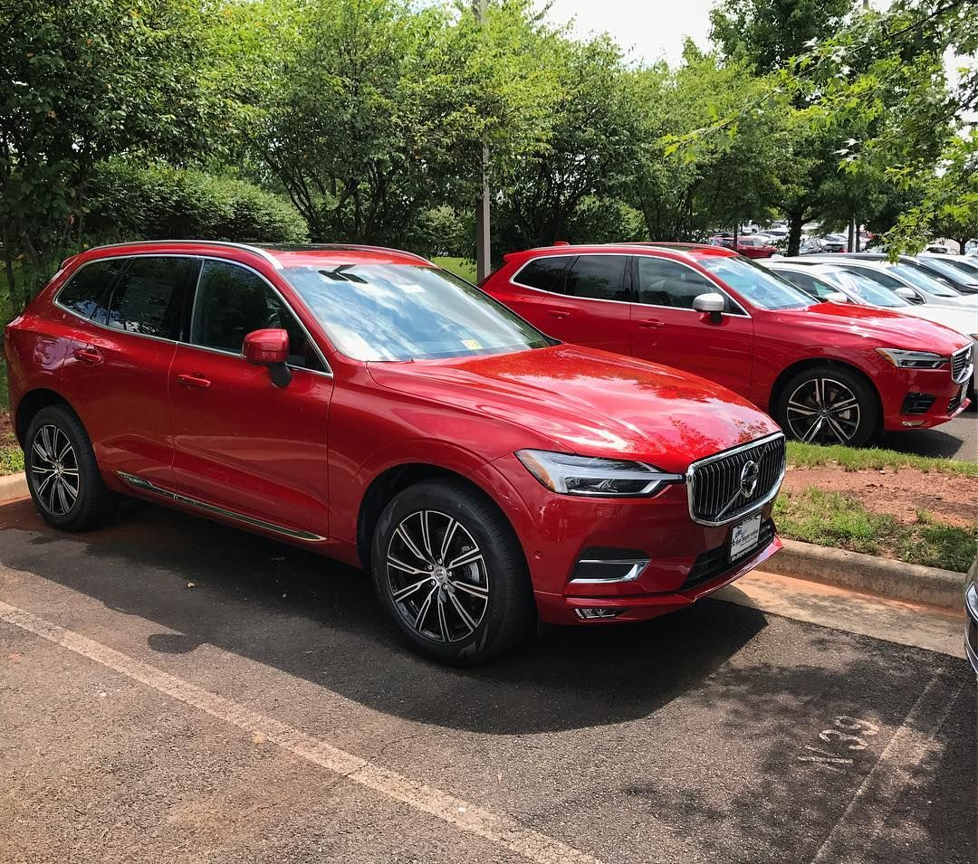 Swedespeed On Instagram The 2018 Xc60 With Fusion Red Metallic And Passion Red Two Beautiful Reds To Choose For Your New Volvo Xc60 New Cars Volvo
