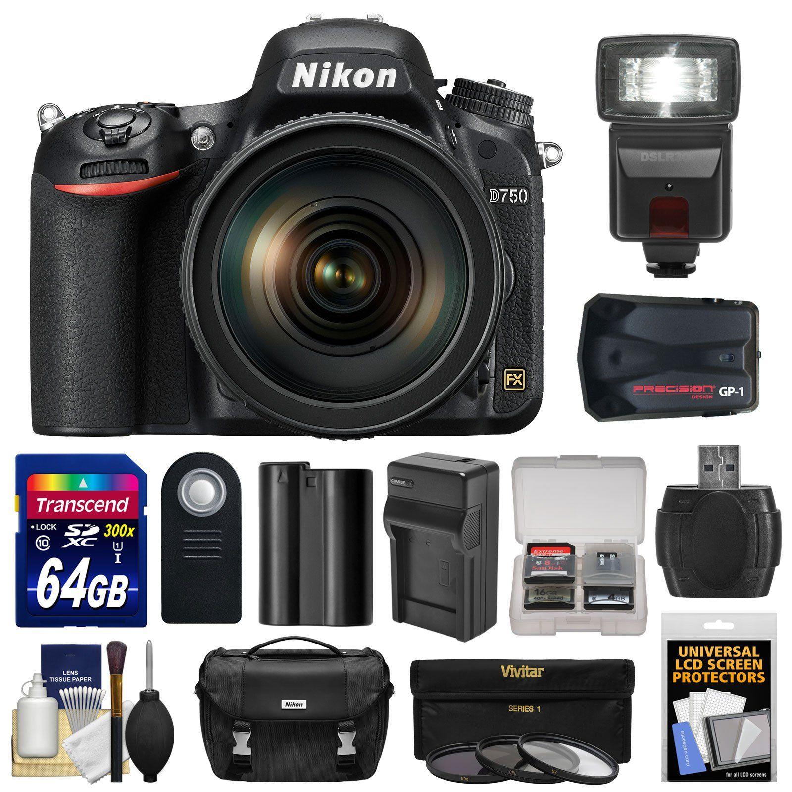 Nikon D750 Digital SLR Camera Kit with 24 120mm f 4 VR Lens and