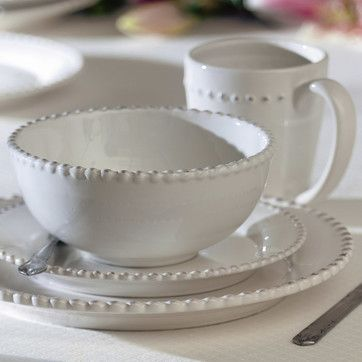 Milford 16 Piece Dinnerware Set | Beaded texture creates an ...