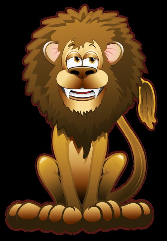 Лев рисунок смешной