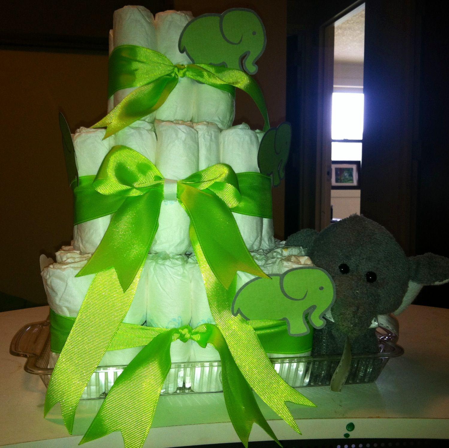 Elephant Diaper Cake :)