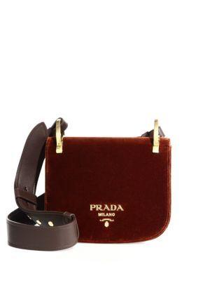 7ea081d82bdc PRADA Pionnière Velvet Saddle Bag. #prada #bags #shoulder bags #leather # velvet #lining #