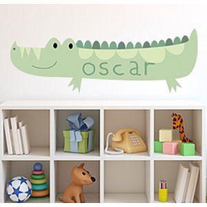 Crocodile Custom Name Fabric Wall Sticker - wall stickers