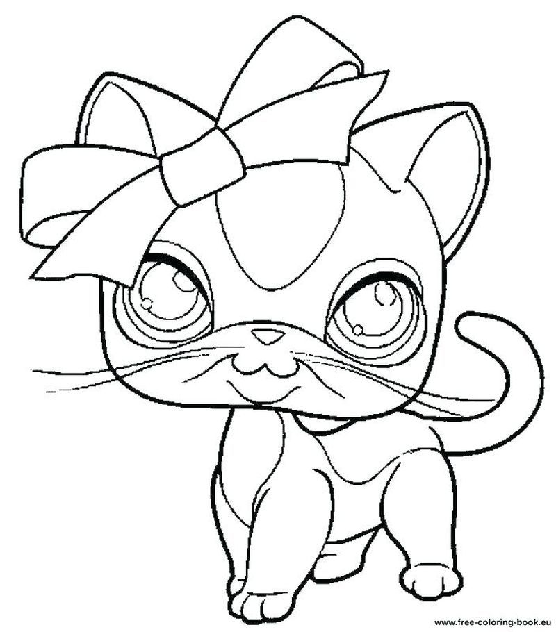 Littlest Pet Shop Coloring Pages Cat coloring page