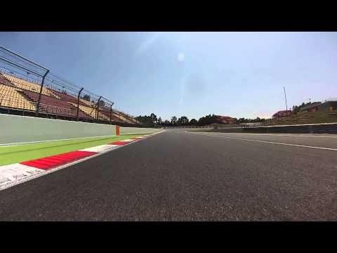 Caméra embarquée Porsche Cayman R - circuit de Catalunya - Espagne