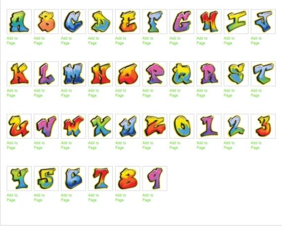 create names with bubble letters letters a z for stickers