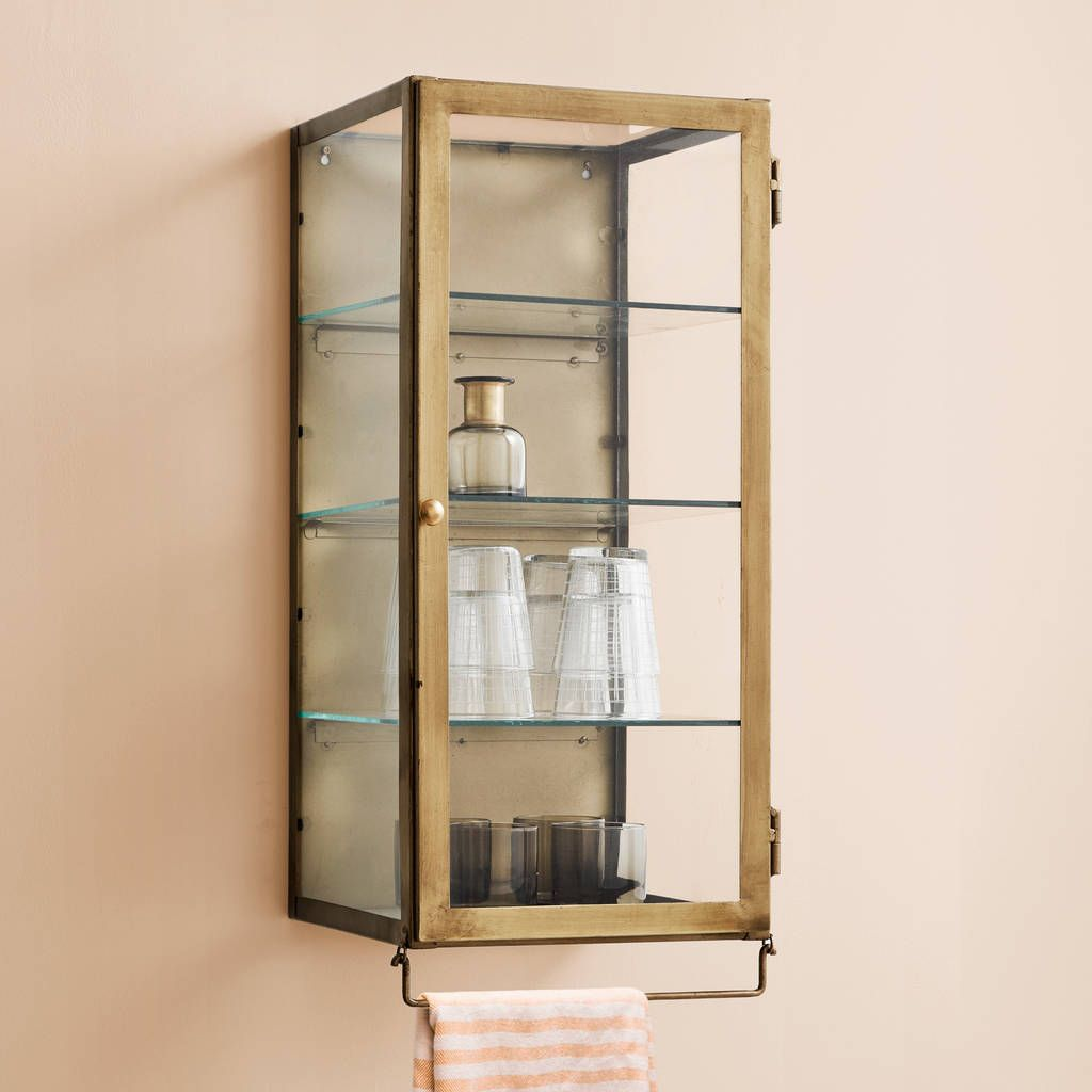 A Open Cubby And 2 Tier Cabinet With Tempered Glass Door This