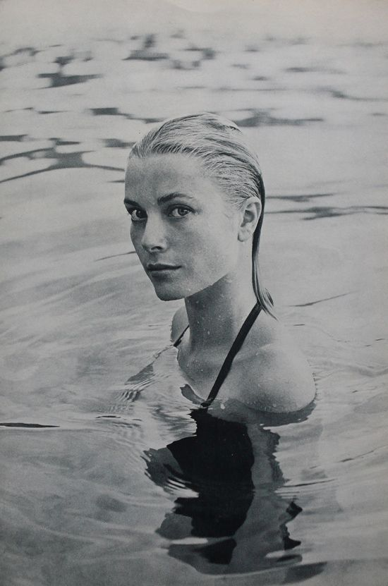 Grace Kelly in the sea