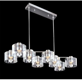 View the Sonneman 4808 Transparence 8 Light Chandelier with Clear Glass Shades at Build.com.