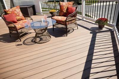 vinyl deck with wolf pvc decking amberwood flooring and longevity