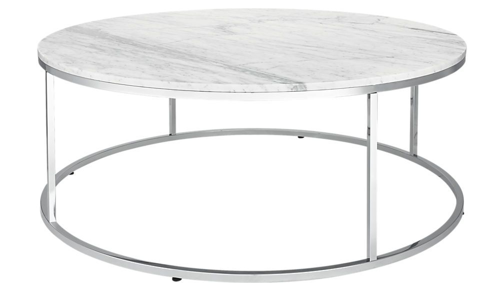 Smart Large Round Marble Top Coffee Table Coffee Table Marble