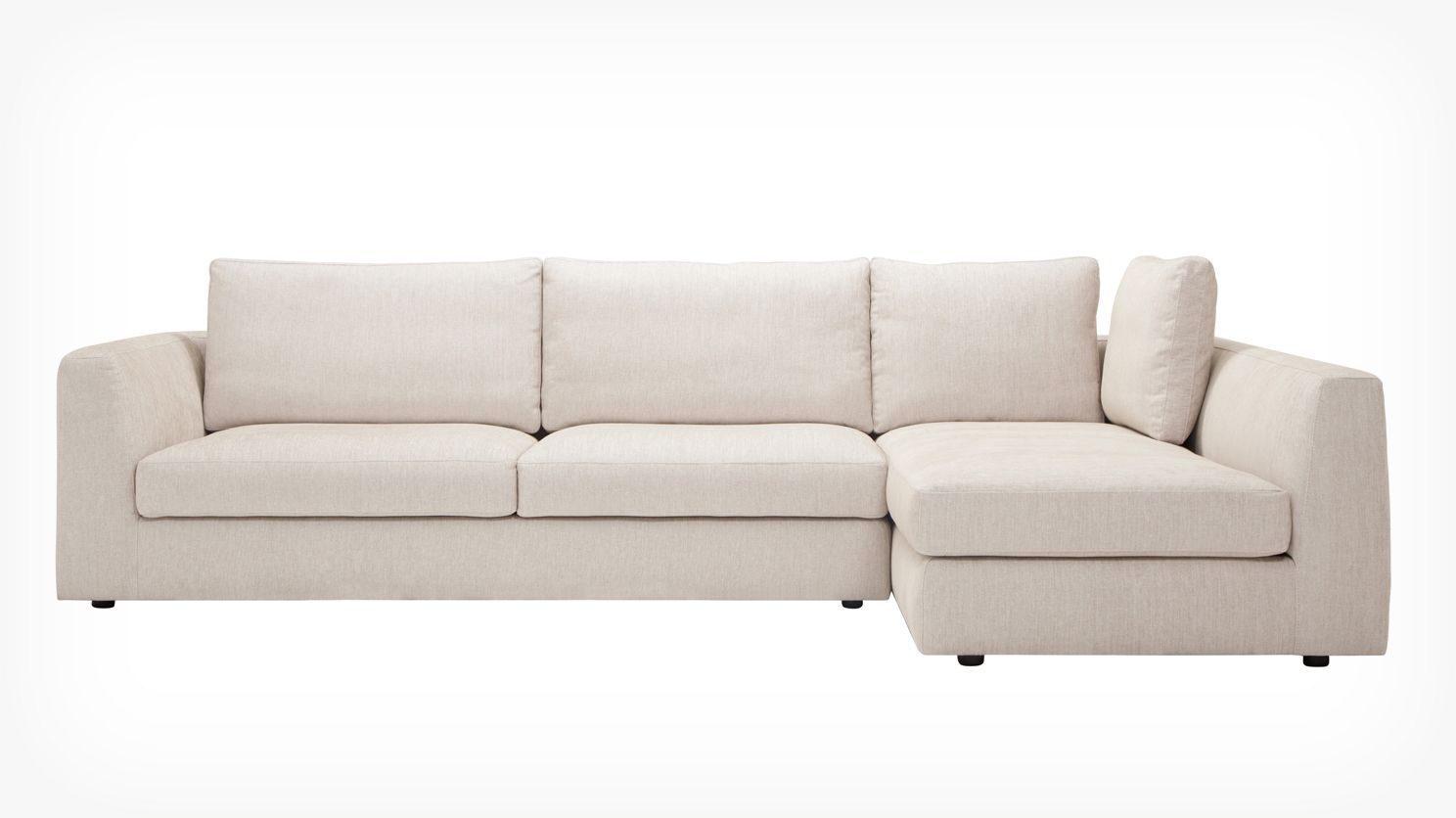 Eq3 Cello 2 Piece Sectional Sofa With Full Arm Chaise Fabric
