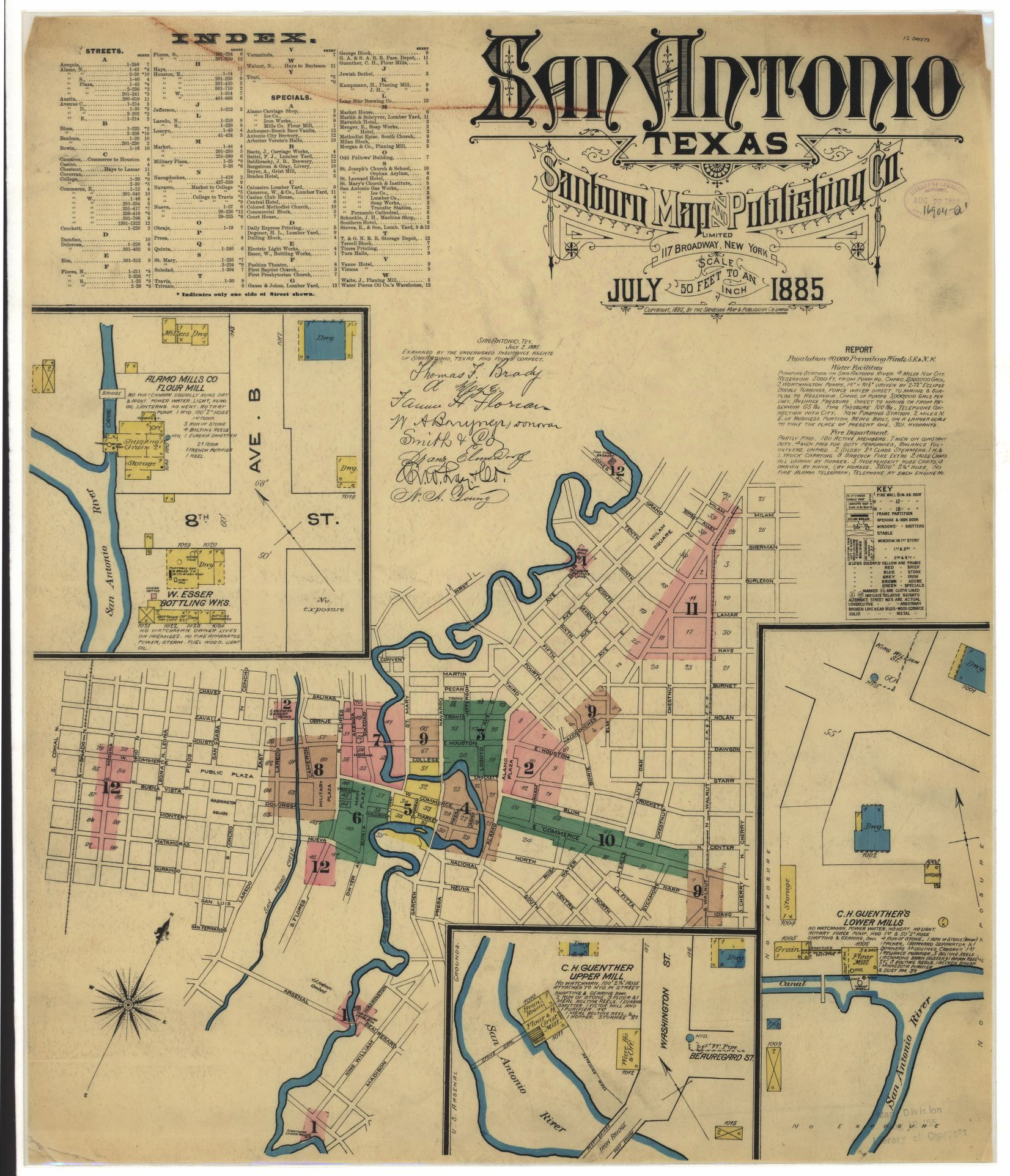 Historic Maps Show What Downtown San Antonio Looked Like