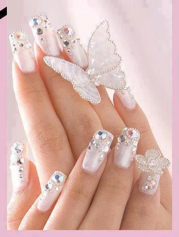pinterri langford on cute/pretty  wedding nail art