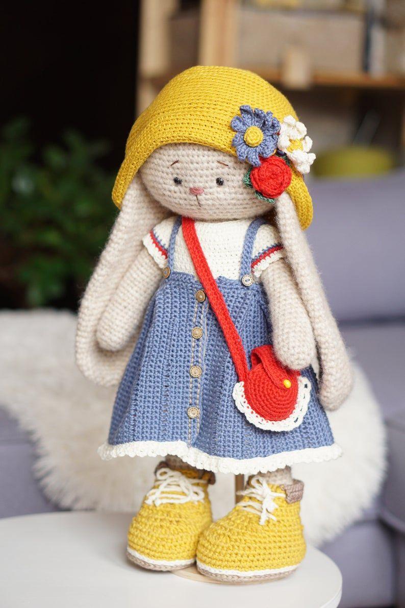 Diy crochet kit toy bunny kylie supply kit lovely etsy