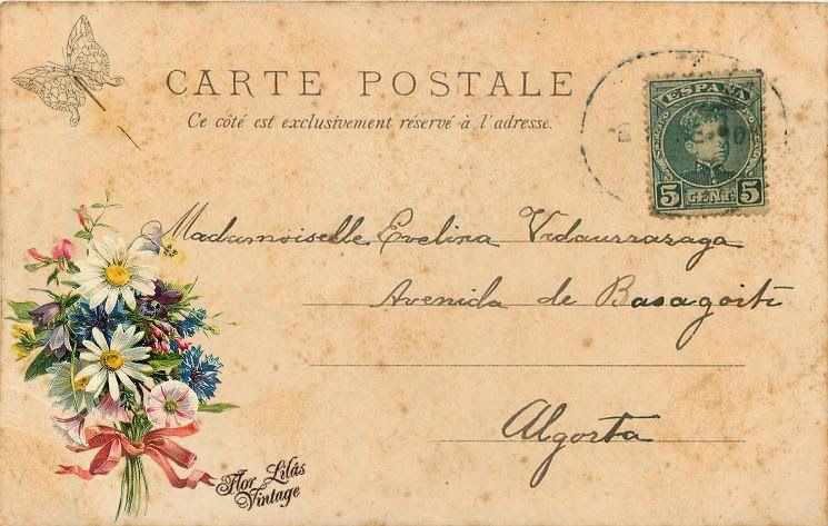 Flor Lilás Vintage