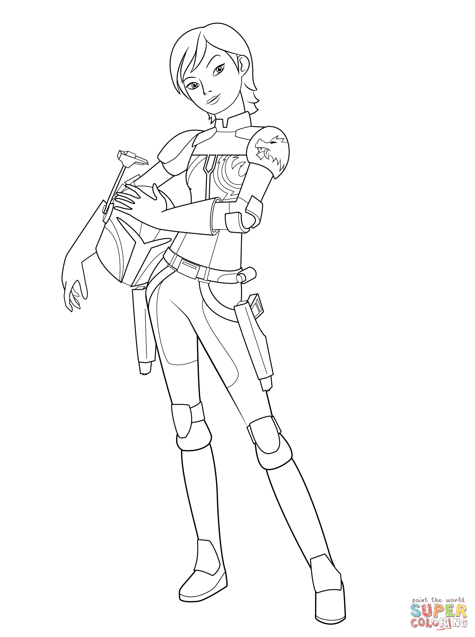 Star Wars Rebel Sabine Wren coloring page from Star Wars Rebels category Select from printable crafts of cartoons nature animals Bible and many
