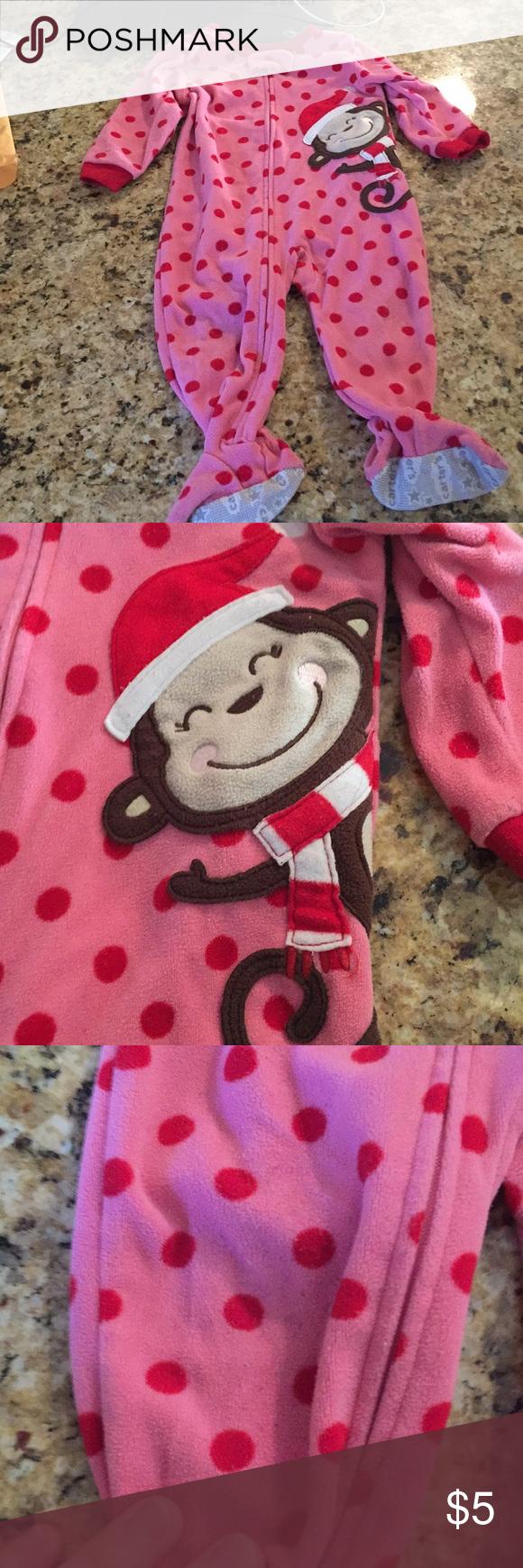 dc7175ac91e4 🎅🏻Carters Christmas Santa monkey pajamas 12 mo in 2018