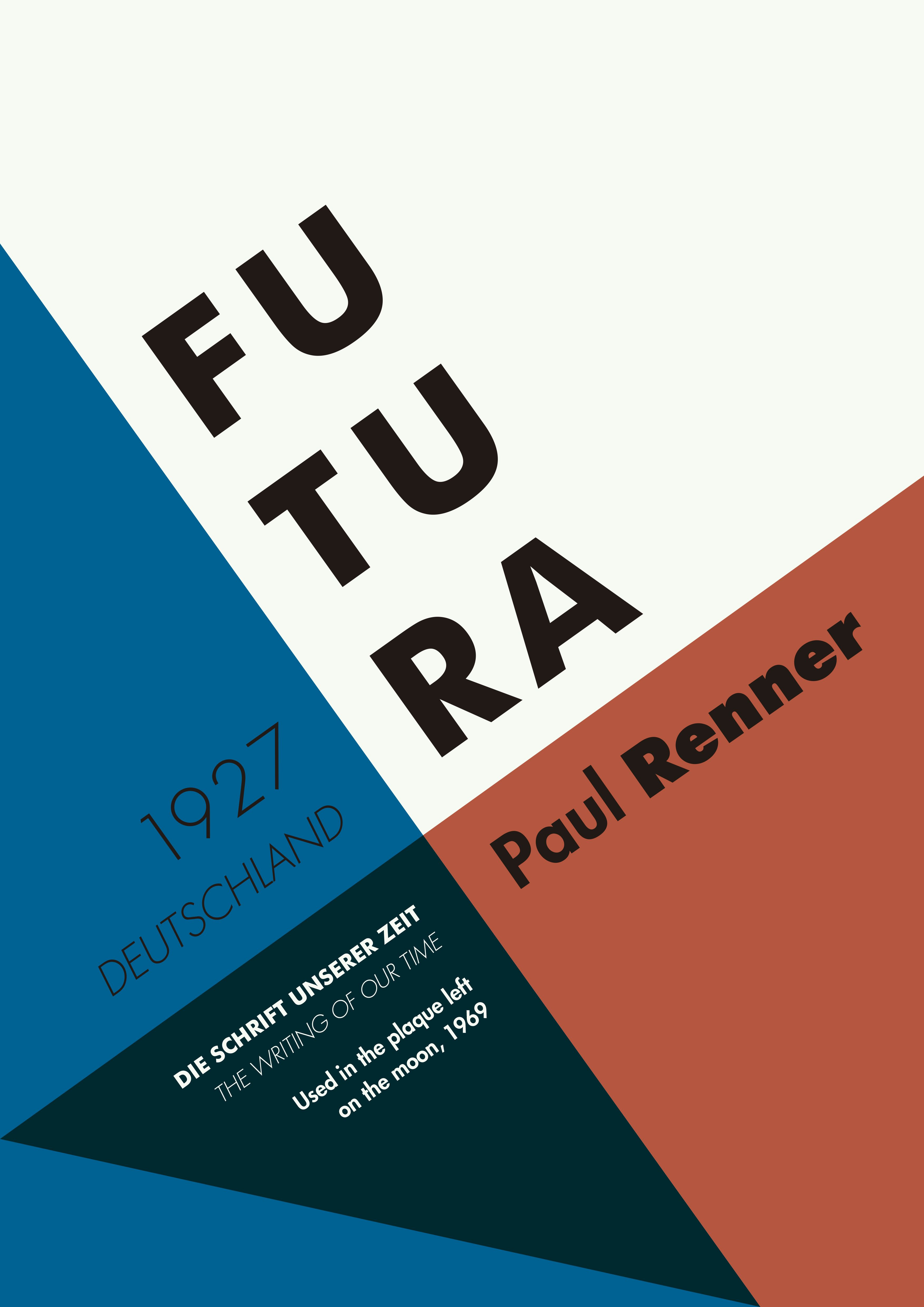 Poster design hierarchy - Futura Typeface Poster